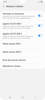 Samsung Galaxy A70 - Internet et roaming de données - Désactivation du roaming de données - Étape 6