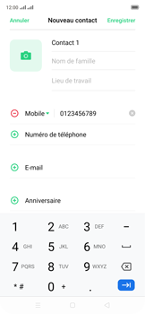 Oppo Reno 2Z - Contact, Appels, SMS/MMS - Ajouter un contact - Étape 7