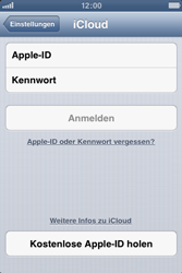 Apple iPhone 4S - Apps - Konfigurieren des Apple iCloud-Dienstes - Schritt 5
