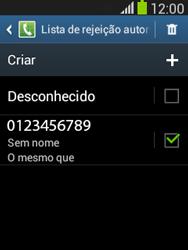 Samsung S5310B Galaxy Pocket Neo - Chamadas - Como bloquear chamadas de um número específico - Etapa 14