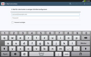 Samsung Galaxy Tab 3 10-1 LTE - E-Mail - Konto einrichten - 1 / 1