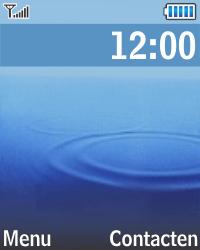 Samsung E1270 - SMS - Handmatig instellen - Stap 1