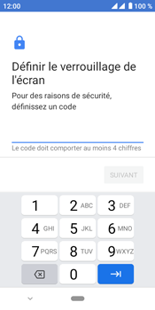 Crosscall Core M4 - Sécuriser votre mobile - Activer le code de verrouillage - Étape 7