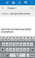 Samsung J100H Galaxy J1 - E-mail - Sending emails - Step 9