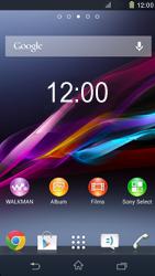 Sony Xpéria Z1 - Sécuriser votre mobile - Activer le code de verrouillage - Étape 1