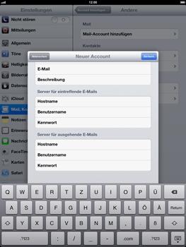 Apple iPad 4 - E-Mail - Konto einrichten - Schritt 13
