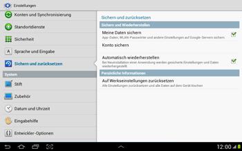 Samsung Galaxy Note 10-1 - Fehlerbehebung - Handy zurücksetzen - 0 / 0