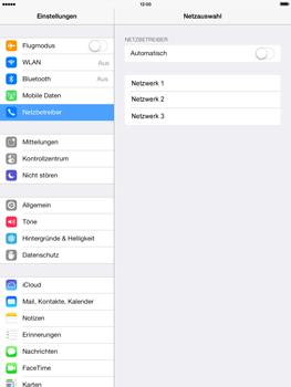 Apple iPad mini retina - Netzwerk - Manuelle Netzwerkwahl - Schritt 8