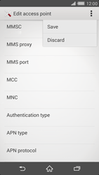 Sony Xperia Z2 - MMS - Manual configuration - Step 15