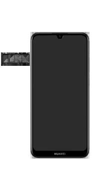 Huawei Y6 (2019) - Toestel - Simkaart plaatsen - Stap 3