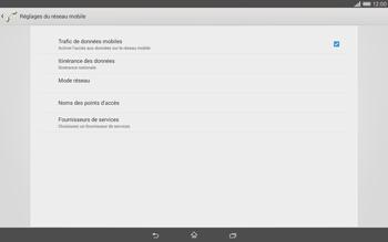 Sony Xperia Tablet Z2 LTE - Internet et roaming de données - Désactivation du roaming de données - Étape 8