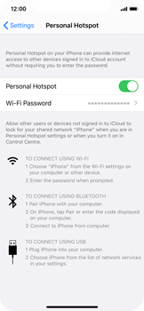 Apple iPhone X - iOS 13 - WiFi - How to enable WiFi hotspot - Step 8