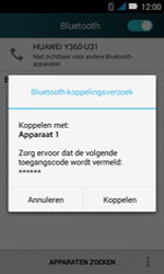 Huawei Y3 - bluetooth - headset, carkit verbinding - stap 7