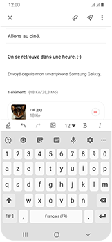 Samsung Galaxy A40 - E-mail - envoyer un e-mail - Étape 19