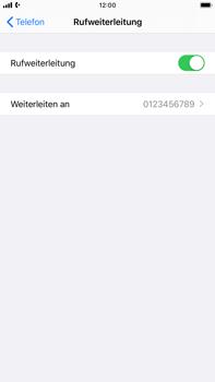 Apple iPhone 8 Plus - iOS 13 - Anrufe - Rufumleitungen setzen und löschen - Schritt 8