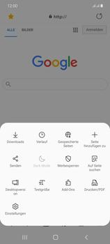 Samsung Galaxy Note 20 5G - Internet und Datenroaming - Verwenden des Internets - Schritt 22