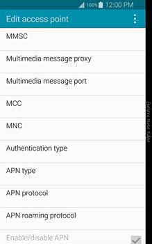 Samsung Galaxy Note Edge - Internet and data roaming - Manual configuration - Step 11