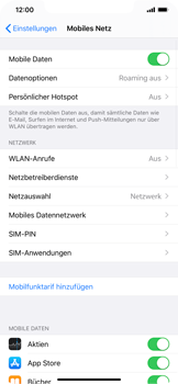 Apple iPhone XS Max - iOS 13 - Netzwerk - Manuelle Netzwerkwahl - Schritt 4