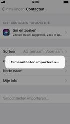 Apple iPhone SE met iOS 11 (Model A1723) - Contacten en data - Contacten kopiëren van SIM naar toestel - Stap 5