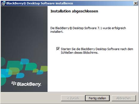 BlackBerry Z10 - Software - Installieren von Software zur PC-Synchronisierung - Schritt 11