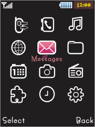 Samsung S5050 Allure S - SMS - Manual configuration - Step 3