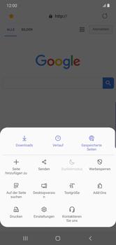 Samsung Galaxy Note 10 Plus 5G - Internet und Datenroaming - Verwenden des Internets - Schritt 20