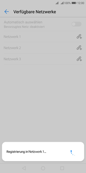 Huawei Y7 (2018) - Netzwerk - Manuelle Netzwerkwahl - Schritt 10