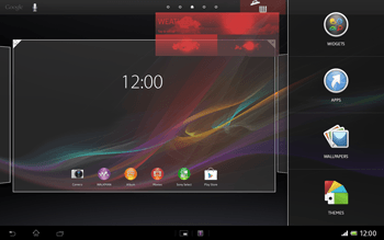 Sony Xperia Tablet Z LTE - Getting started - Installing widgets and applications on your start screen - Step 6