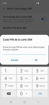 Samsung Galaxy S10 - Sécuriser votre mobile - Personnaliser le code PIN de votre carte SIM - Étape 8