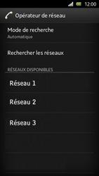 Sony Xperia U - Réseau - Sélection manuelle du réseau - Étape 9