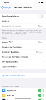 Apple iPhone XR - iOS 13 - Internet - activer ou désactiver - Étape 5