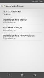 Sony Xperia T3 - Anrufe - Rufumleitungen setzen und löschen - 6 / 9