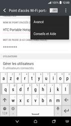 HTC Desire 530 - Internet et connexion - Partager votre connexion en Wi-Fi - Étape 11