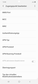 Samsung Galaxy Note 20 5G - Internet und Datenroaming - Manuelle Konfiguration - Schritt 17