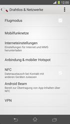 Sony Xperia Z1 Compact - Netzwerk - Netzwerkeinstellungen ändern - Schritt 5