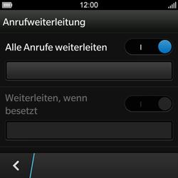 BlackBerry Q10 - Anrufe - Rufumleitungen setzen und löschen - Schritt 8