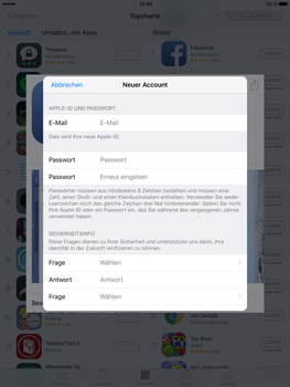 Apple iPad Pro 9.7 inch - Apps - Konto anlegen und einrichten - 22 / 35