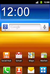 Samsung S5690 Galaxy Xcover - mms - wordt niet ondersteund - stap 1