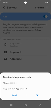 Samsung Galaxy Note10 Plus - Bluetooth - koppelen met ander apparaat - Stap 10