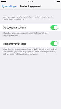 Apple Apple iPhone 6 Plus iOS 10 - iOS features - Bedieningspaneel - Stap 4