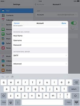Apple iPad mini 4 iOS 10 - E-mail - Manual configuration - Step 21