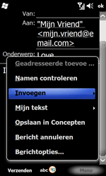 Samsung B7610 Omnia Qwerty - E-mail - e-mail versturen - Stap 9
