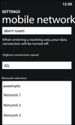 Nokia Lumia 800 / Lumia 900 - Network - Manual network selection - Step 9