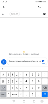 Huawei Mate 20 Pro - Contact, Appels, SMS/MMS - Envoyer un SMS - Étape 9