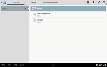 Samsung Galaxy Tab 2 10.1 - Internet und Datenroaming - Verwenden des Internets - Schritt 6