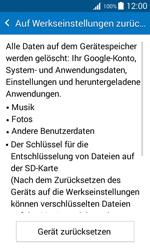 Samsung Galaxy J1 - Fehlerbehebung - Handy zurücksetzen - 1 / 1