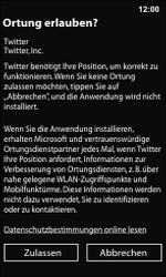 Nokia Lumia 800 / Lumia 900 - Apps - Einrichten des App Stores - Schritt 8