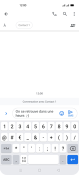 Oppo Reno 4 - Contact, Appels, SMS/MMS - Envoyer un SMS - Étape 12