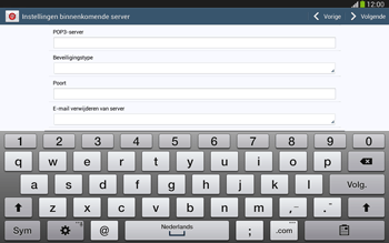 Samsung P5220 Galaxy Tab 3 10-1 LTE - E-mail - Handmatig instellen - Stap 10