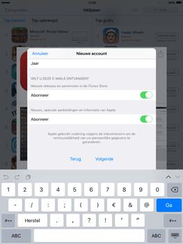 Apple iPad mini met iOS 9 (Model A1455) - Applicaties - Account aanmaken - Stap 16